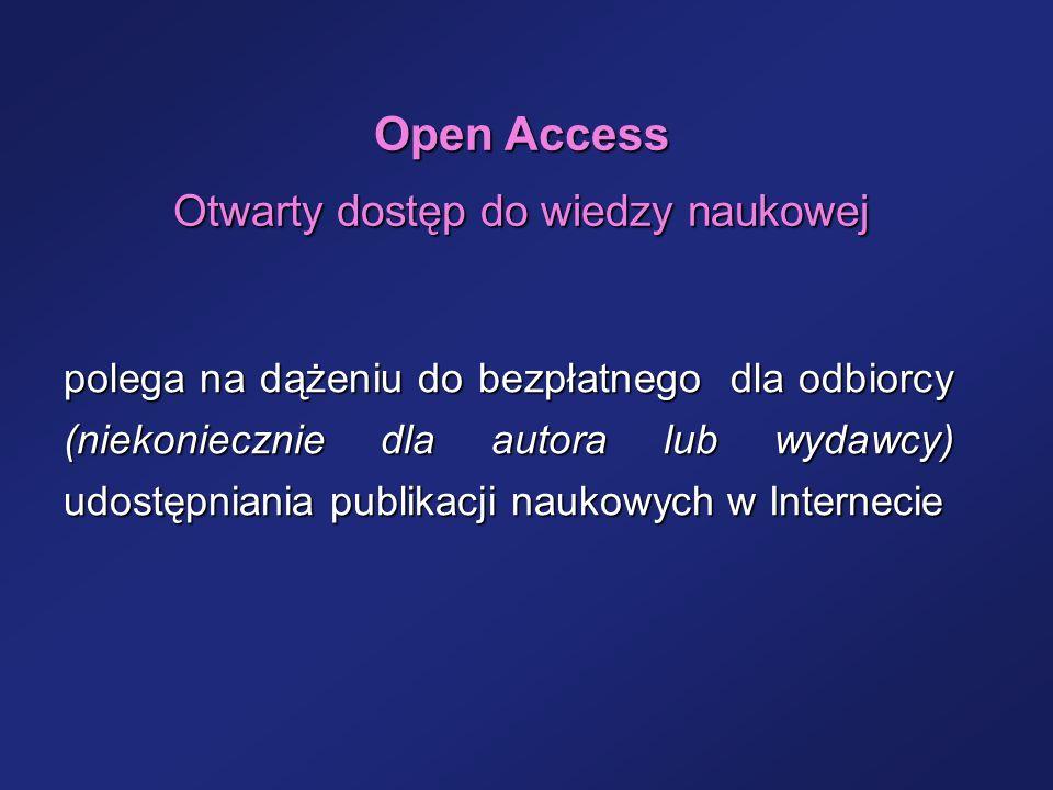 Otwarty dostęp do wiedzy naukowej