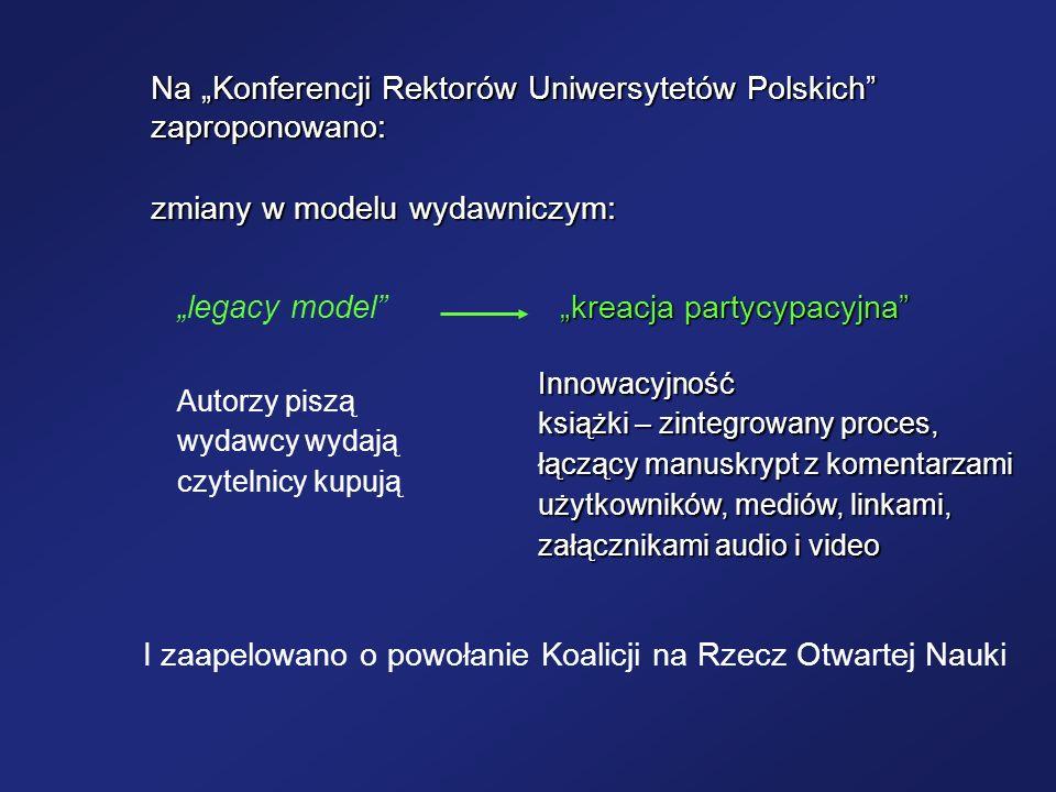 """Na """"Konferencji Rektorów Uniwersytetów Polskich zaproponowano:"""