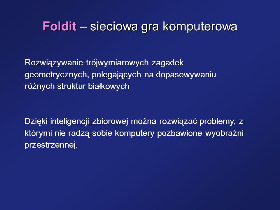 Foldit – sieciowa gra komputerowa