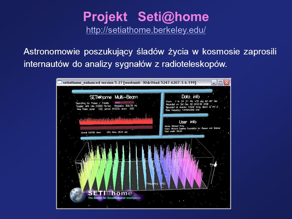 Projekt Seti@home http://setiathome.berkeley.edu/