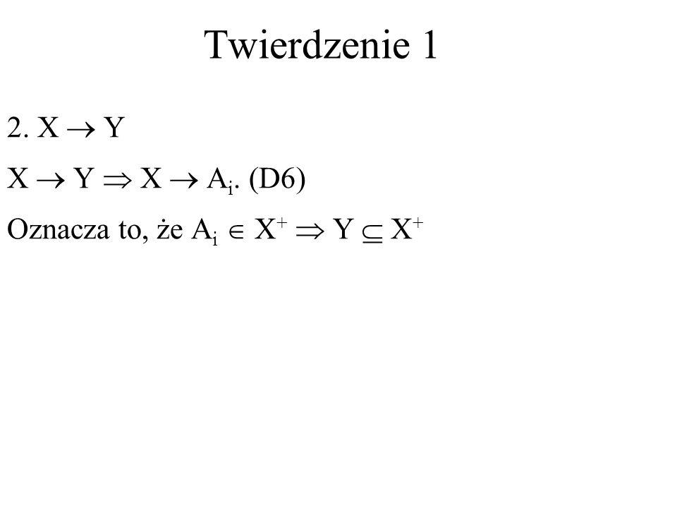 Twierdzenie 1 2. X  Y X  Y  X  Ai. (D6)