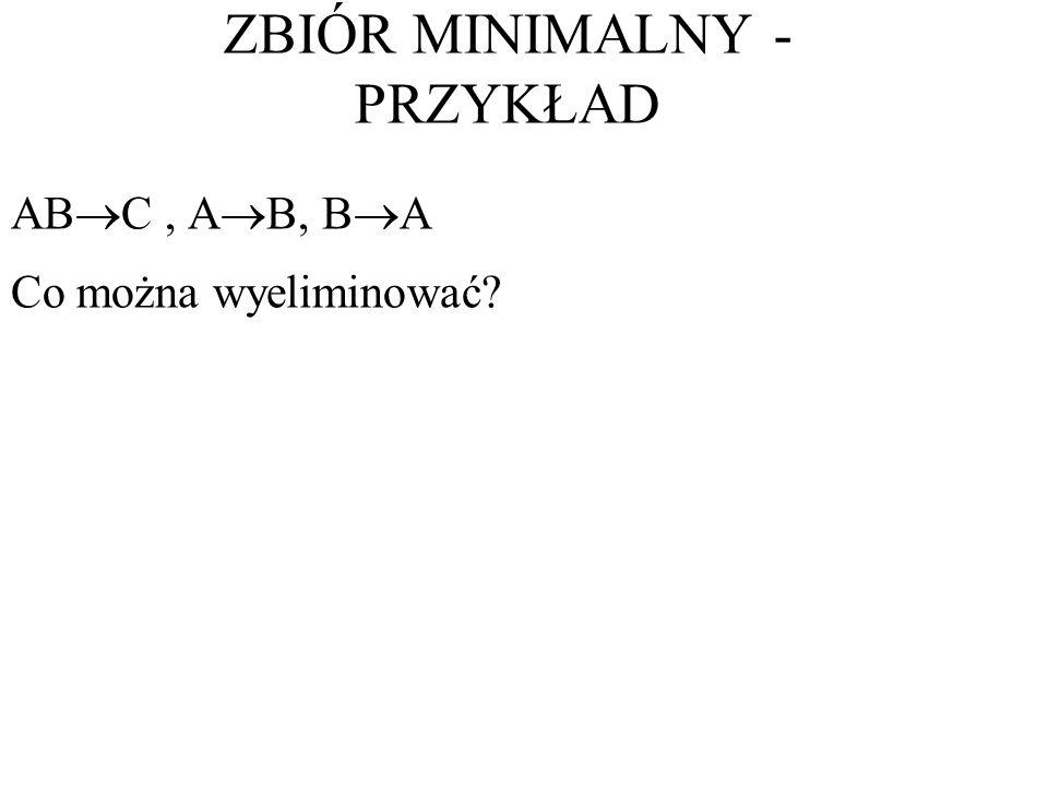 ZBIÓR MINIMALNY - PRZYKŁAD