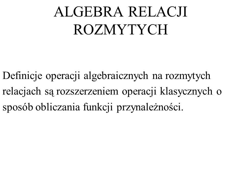 ALGEBRA RELACJI ROZMYTYCH