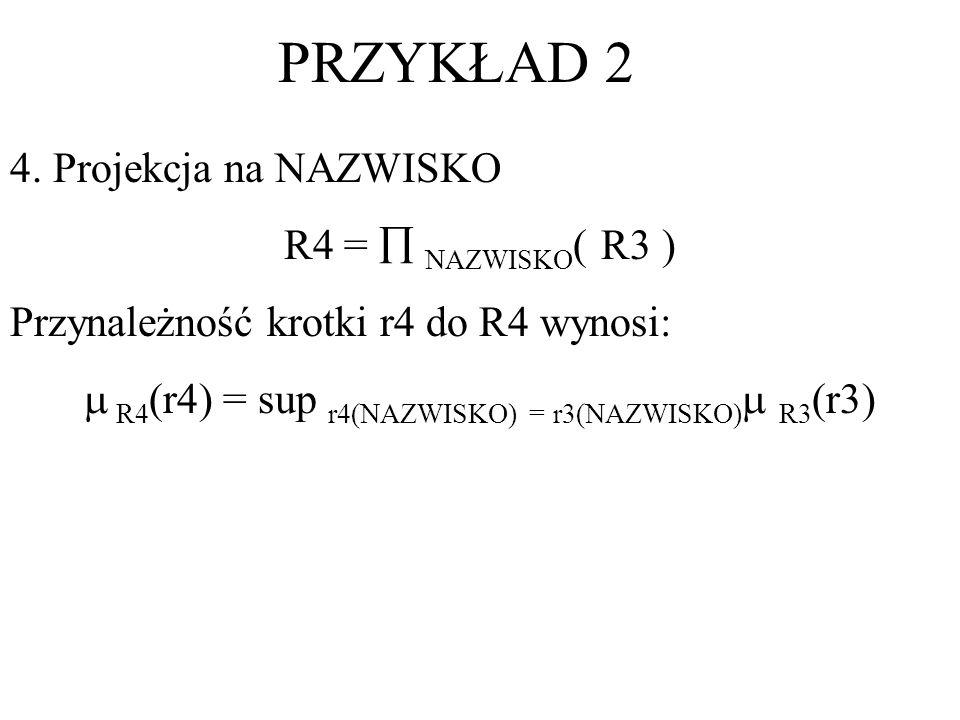  R4(r4) = sup r4(NAZWISKO) = r3(NAZWISKO) R3(r3)