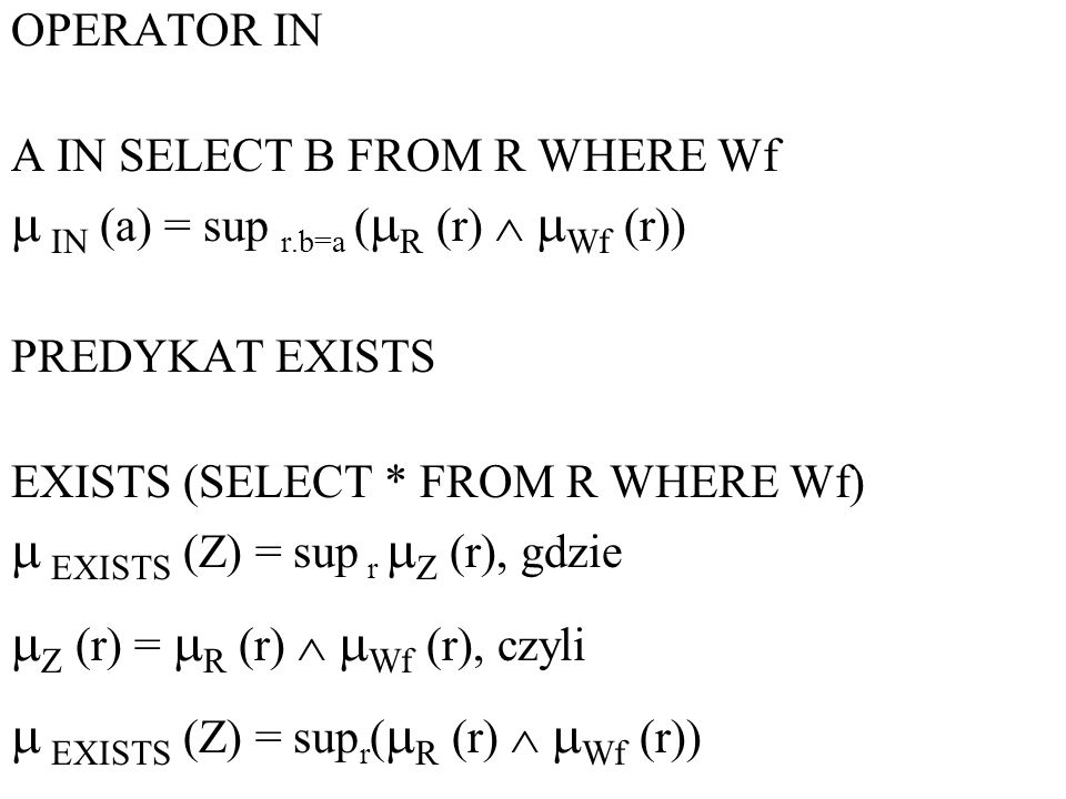  IN (a) = sup r.b=a (R (r)  Wf (r))