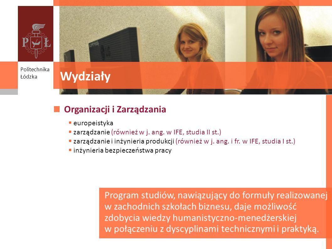 Wydziały Organizacji i Zarządzania