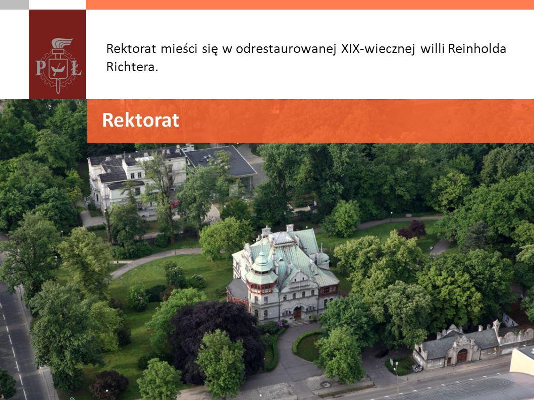 Rektorat mieści się w odrestaurowanej XIX-wiecznej willi Reinholda Richtera.