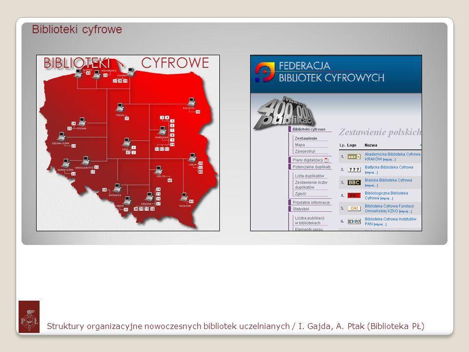 Biblioteki cyfroweStruktury organizacyjne nowoczesnych bibliotek uczelnianych / I.