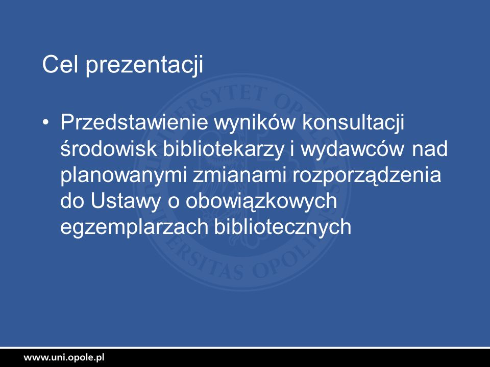 Cel prezentacji