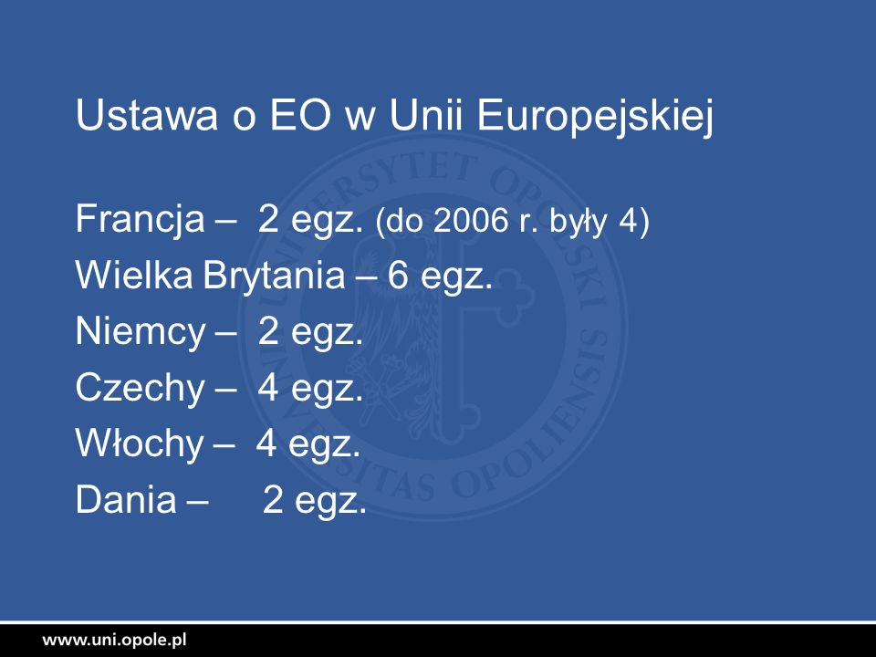 Ustawa o EO w Unii Europejskiej