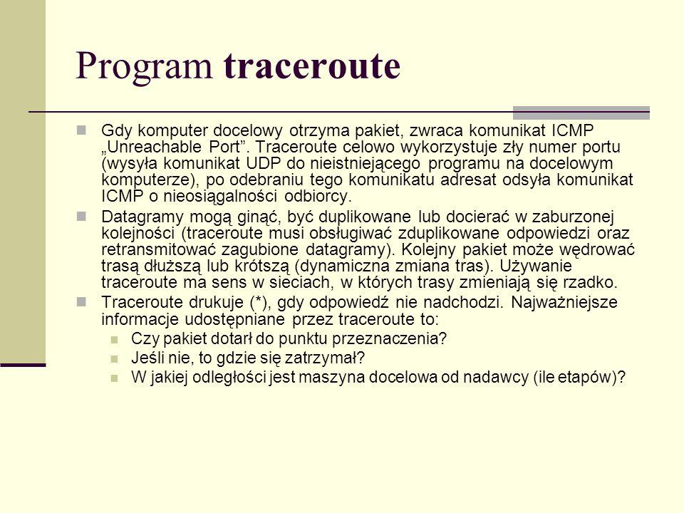 Program traceroute
