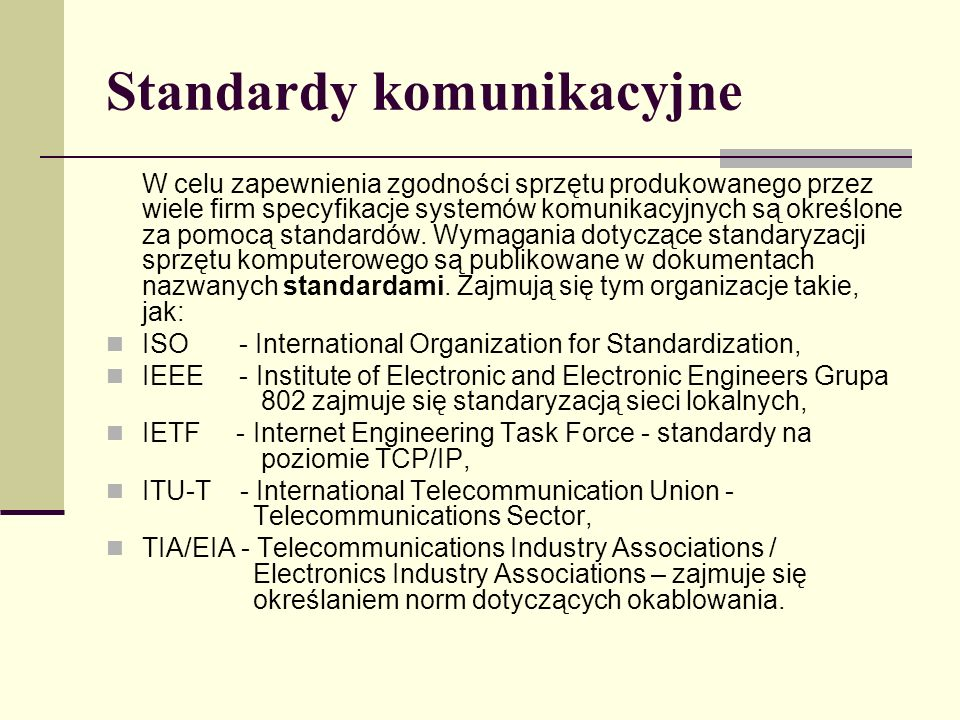 Standardy komunikacyjne