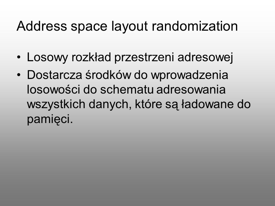 Address space layout randomization