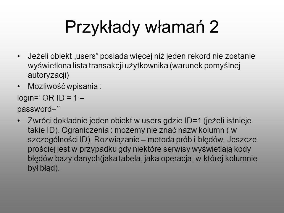 Przykłady włamań 2