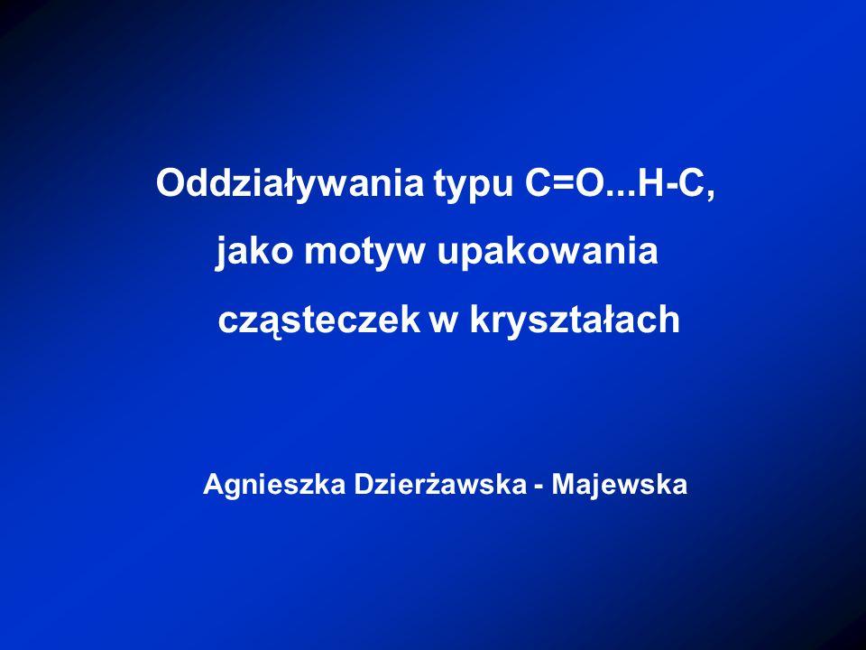 Oddziaływania typu C=O...H-C,