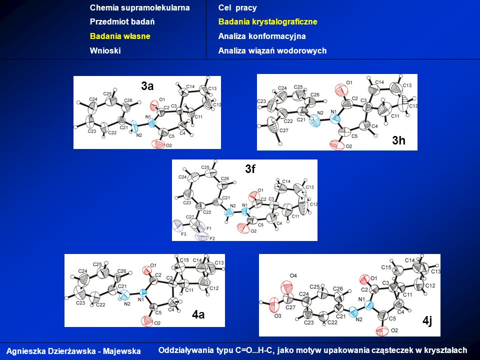 3a 3h 3f 4a 4j Chemia supramolekularna Przedmiot badań Badania własne
