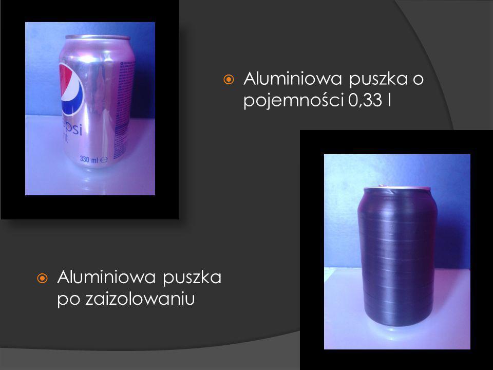 Aluminiowa puszka o pojemności 0,33 l