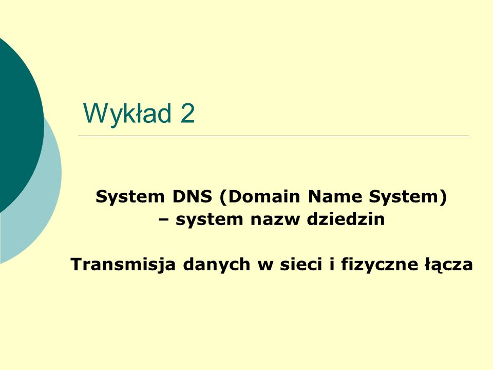 System DNS (Domain Name System)