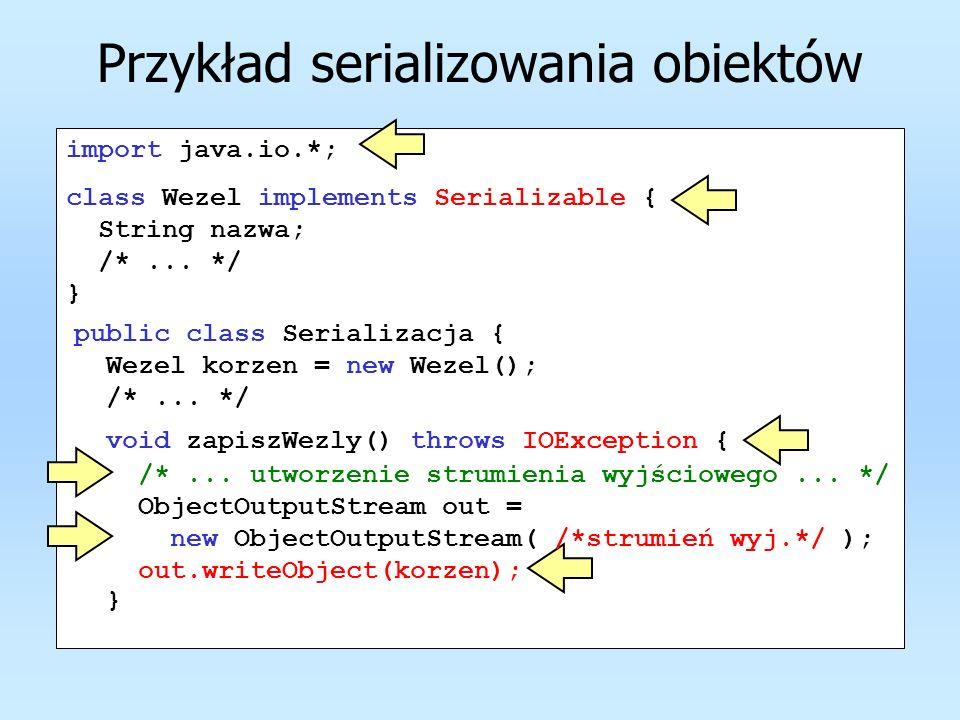 Przykład serializowania obiektów