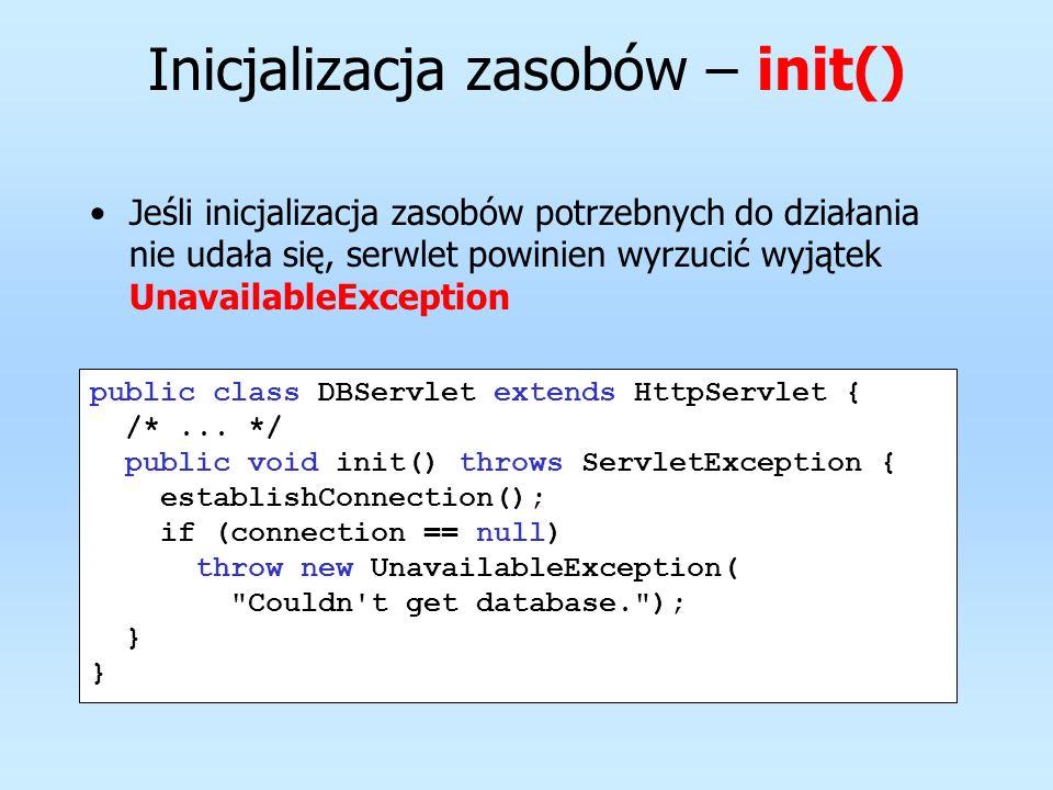 Inicjalizacja zasobów – init()