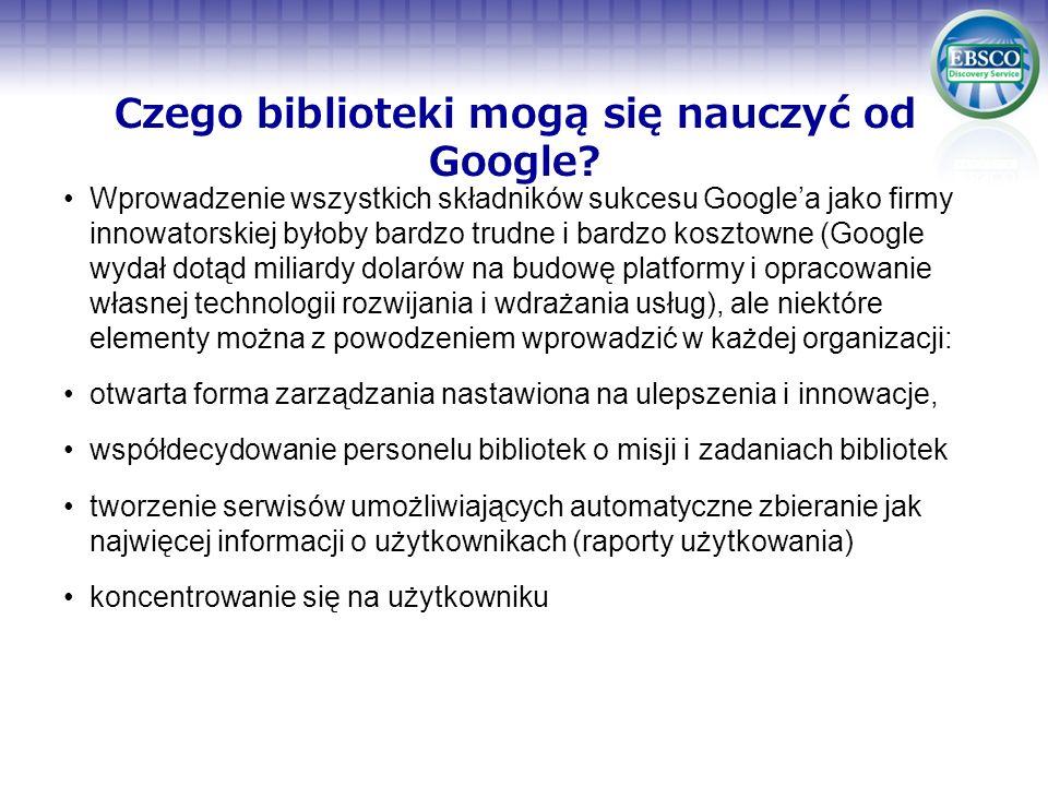 Czego biblioteki mogą się nauczyć od Google