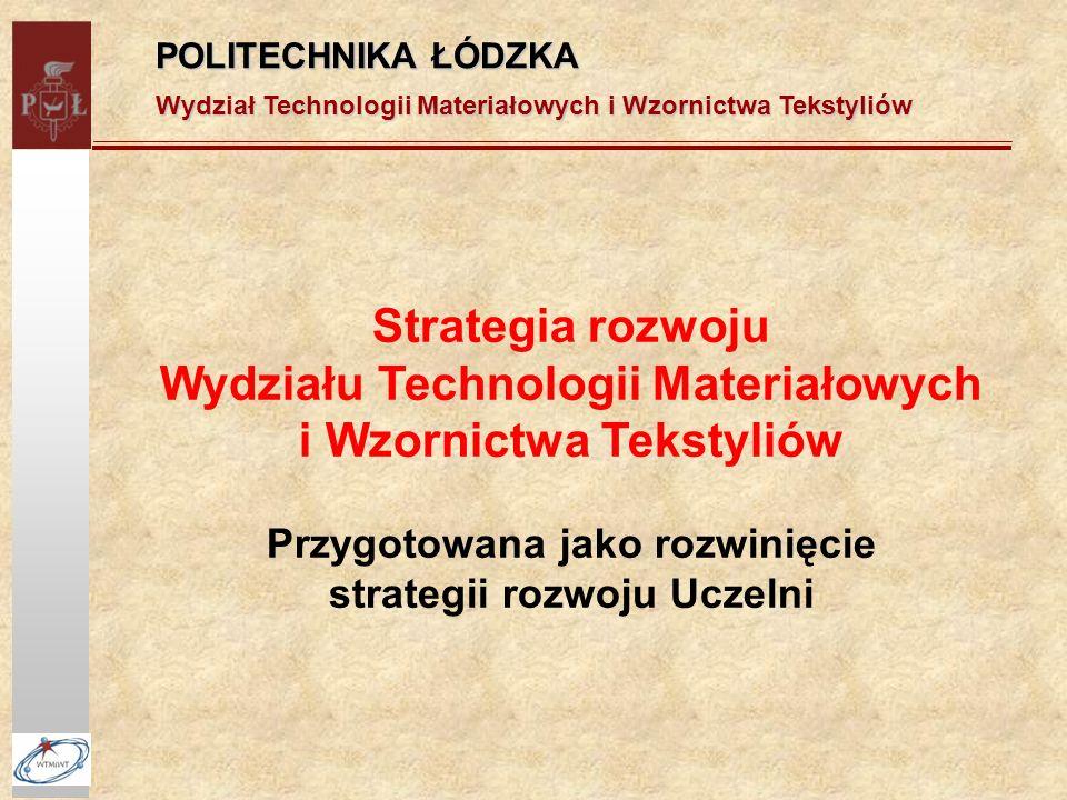 Wydziału Technologii Materiałowych i Wzornictwa Tekstyliów