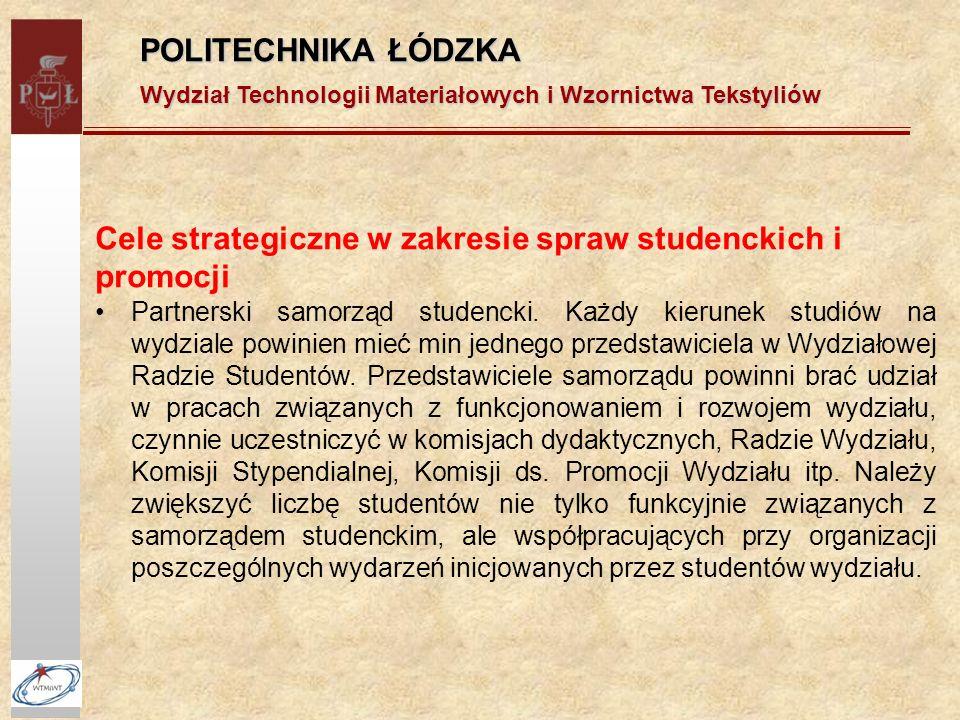 Cele strategiczne w zakresie spraw studenckich i promocji