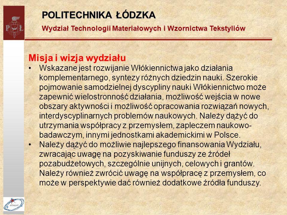 POLITECHNIKA ŁÓDZKA Misja i wizja wydziału