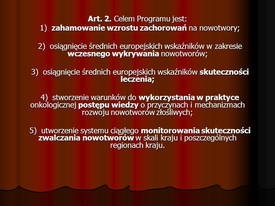 Art. 2. Celem Programu jest: