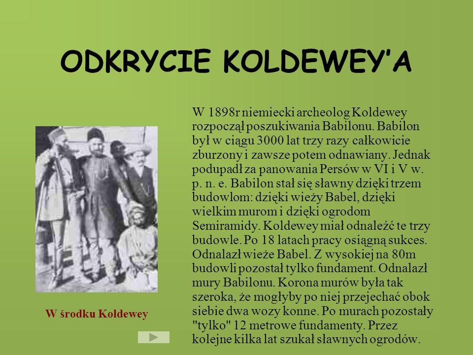 ODKRYCIE KOLDEWEY'A