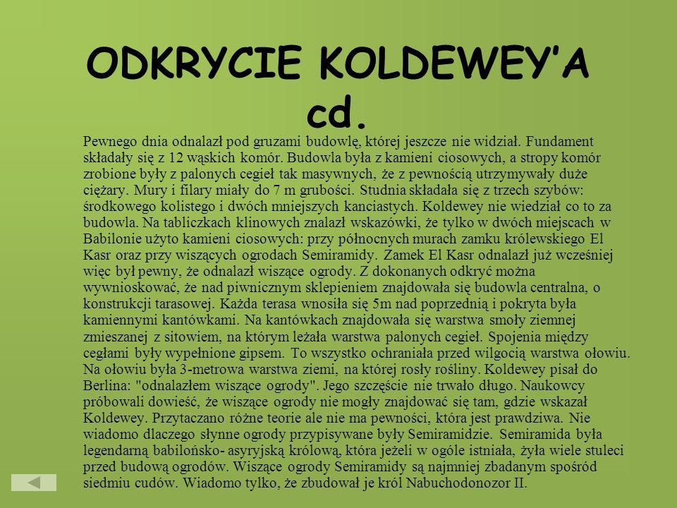ODKRYCIE KOLDEWEY'A cd.