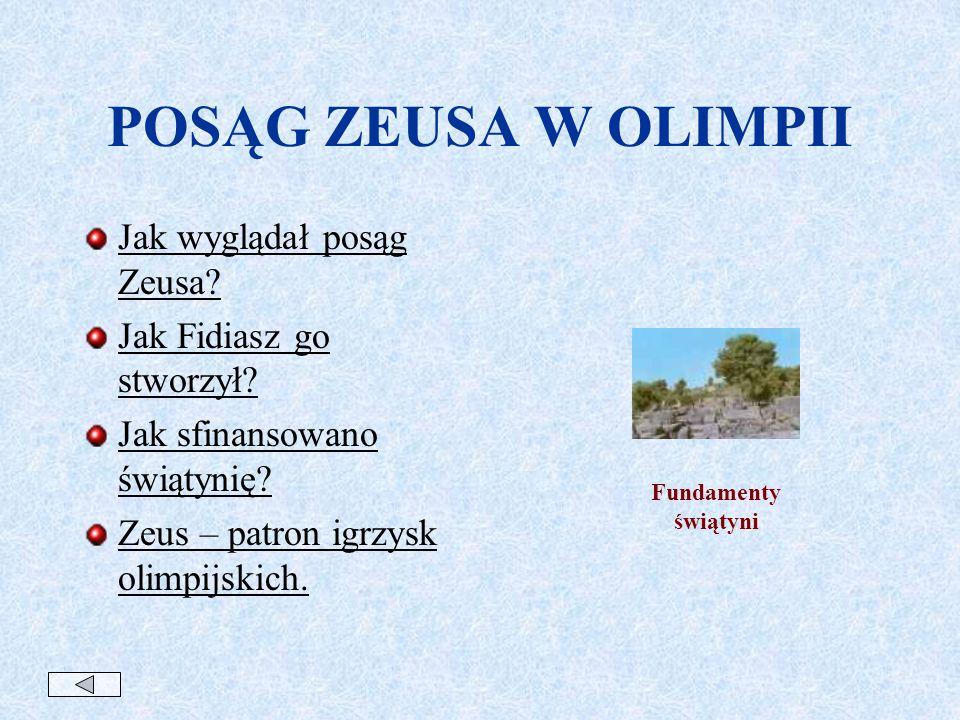 POSĄG ZEUSA W OLIMPII Jak wyglądał posąg Zeusa