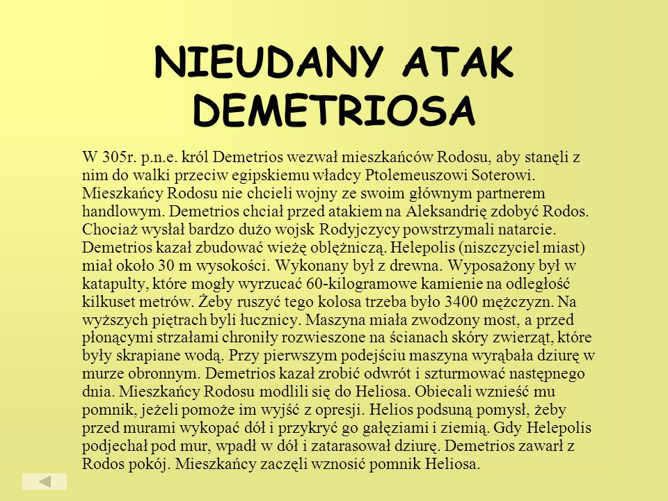 NIEUDANY ATAK DEMETRIOSA