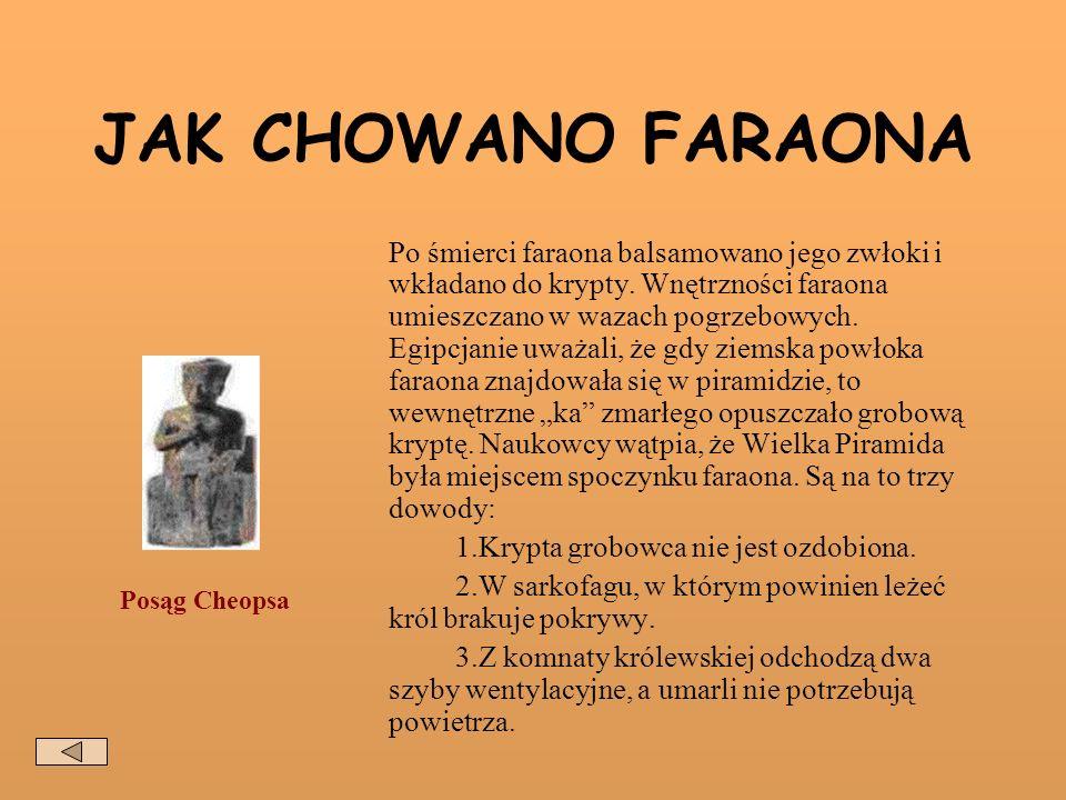 JAK CHOWANO FARAONA