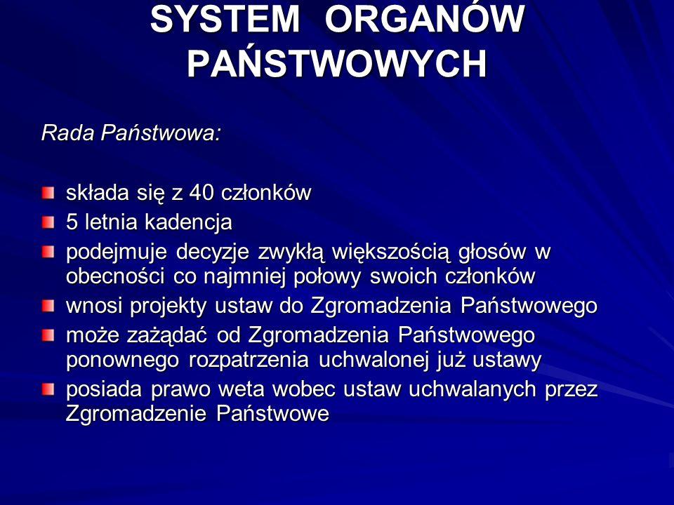 SYSTEM ORGANÓW PAŃSTWOWYCH