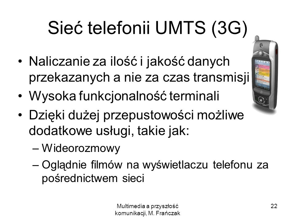 Sieć telefonii UMTS (3G)