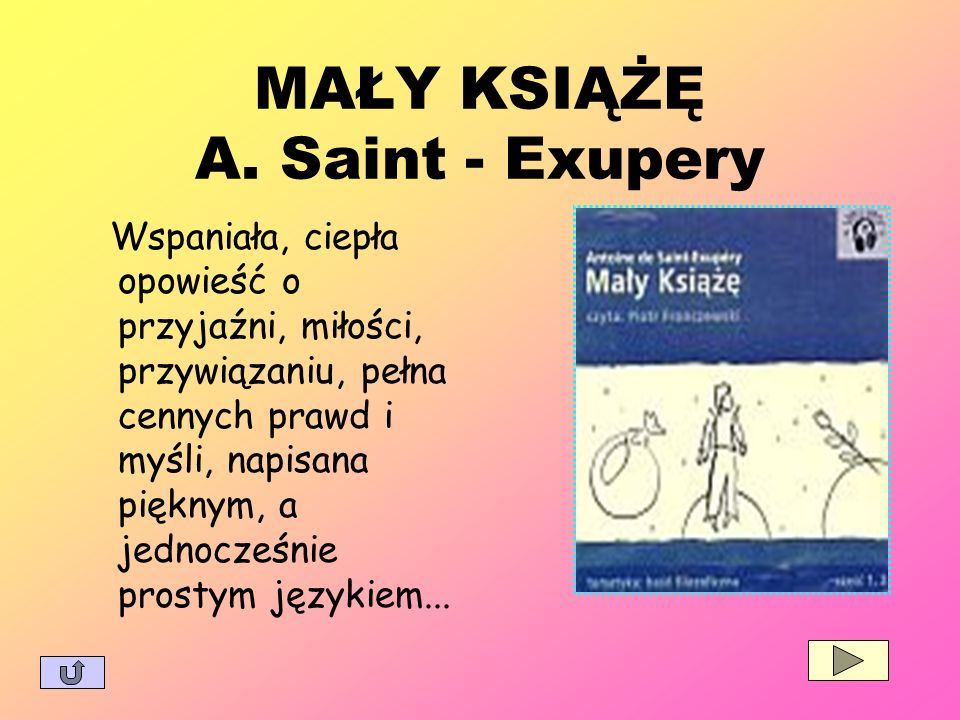 MAŁY KSIĄŻĘ A. Saint - Exupery