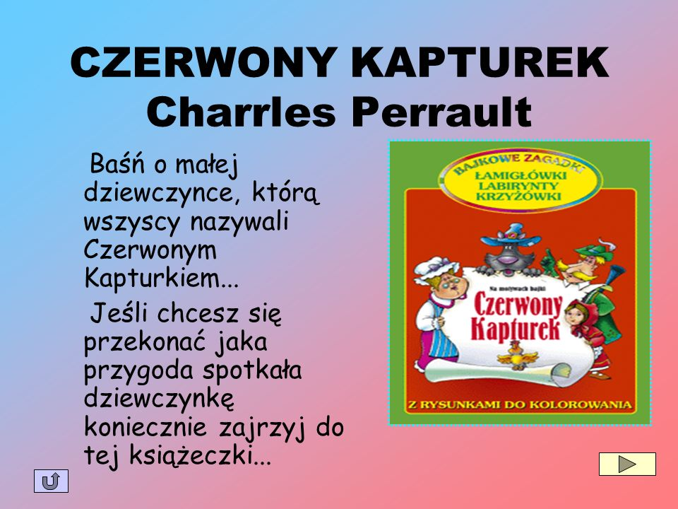 CZERWONY KAPTUREK Charrles Perrault