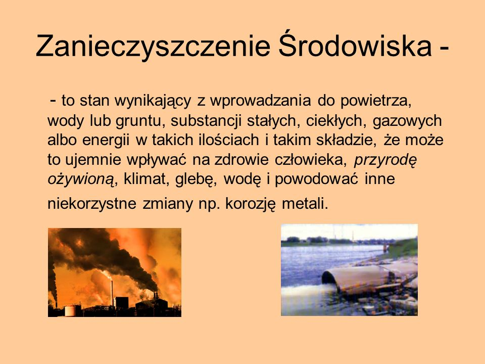 Zanieczyszczenie Środowiska -