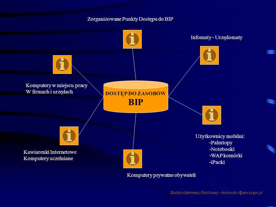 BIP Zorganizowane Punkty Dostępu do BIP Infomaty - Urzędomaty