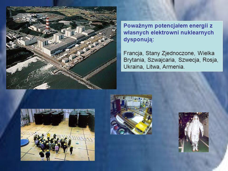 Poważnym potencjałem energii z własnych elektrowni nuklearnych dysponują: