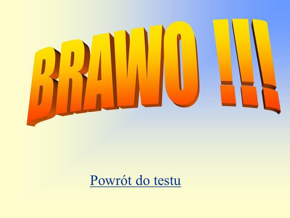 BRAWO !!! Powrót do testu