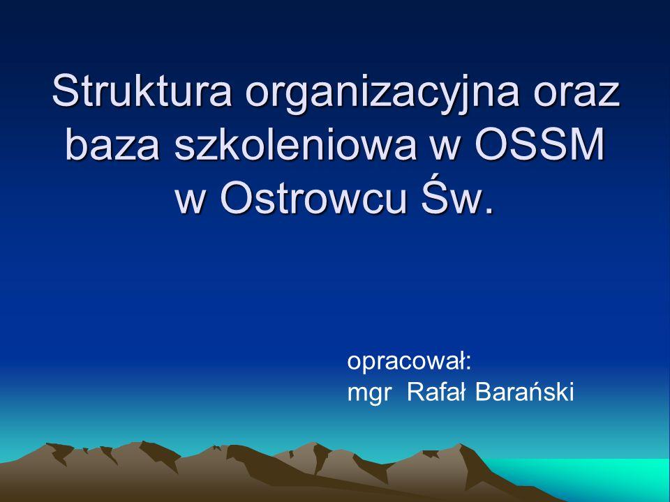Struktura organizacyjna oraz baza szkoleniowa w OSSM w Ostrowcu Św.