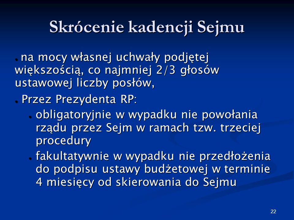Skrócenie kadencji Sejmu