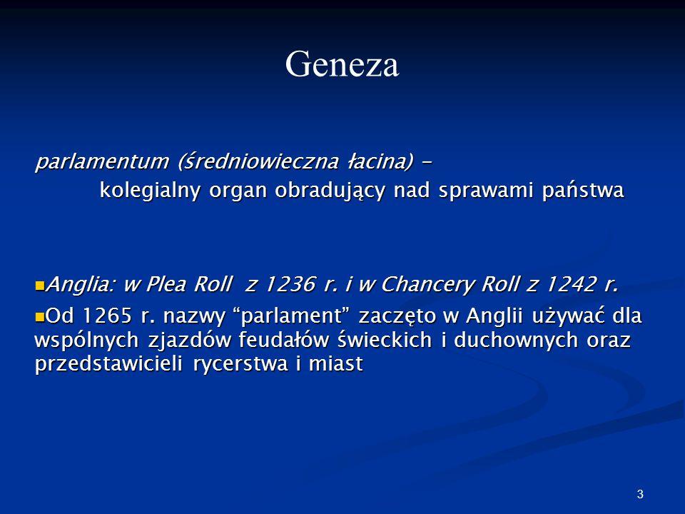 Geneza parlamentum (średniowieczna łacina) -