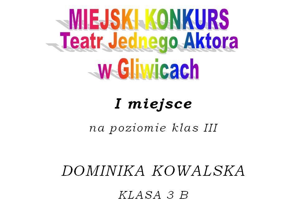MIEJSKI KONKURS Teatr Jednego Aktora w Gliwicach