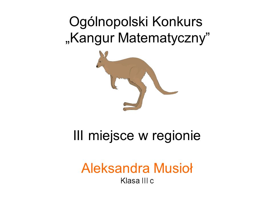 """""""Kangur Matematyczny"""
