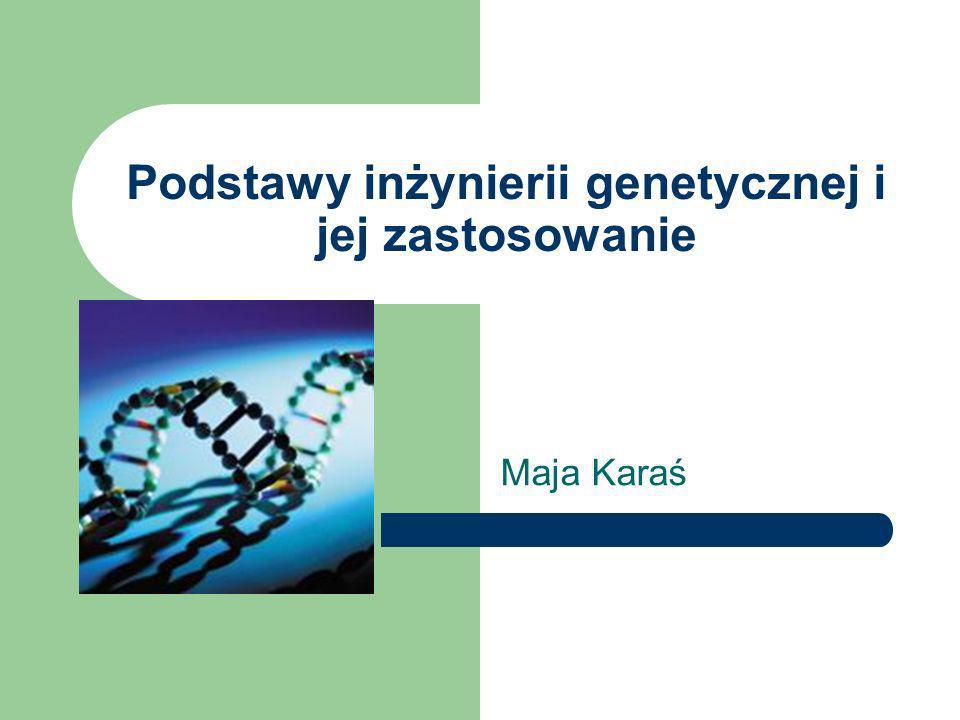 Podstawy inżynierii genetycznej i jej zastosowanie