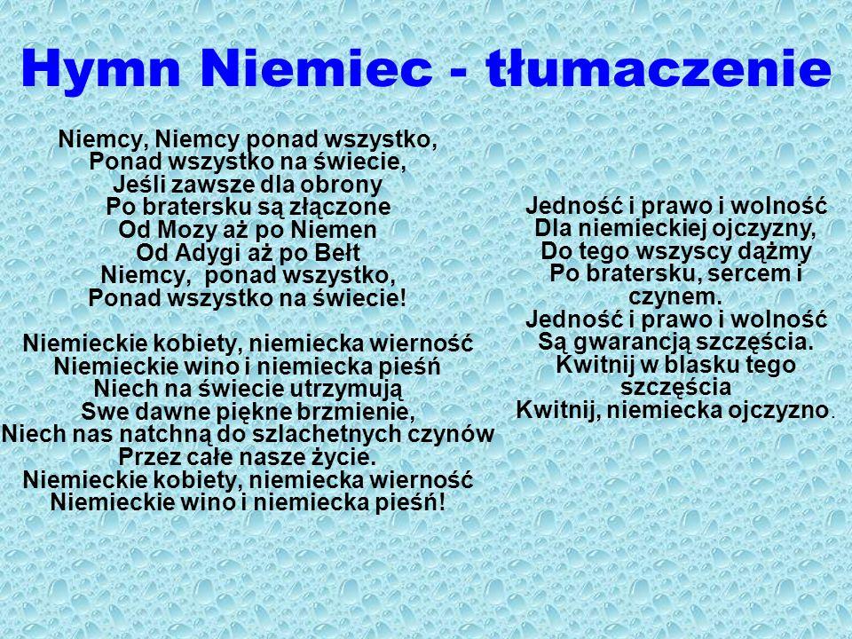 Hymn Niemiec - tłumaczenie