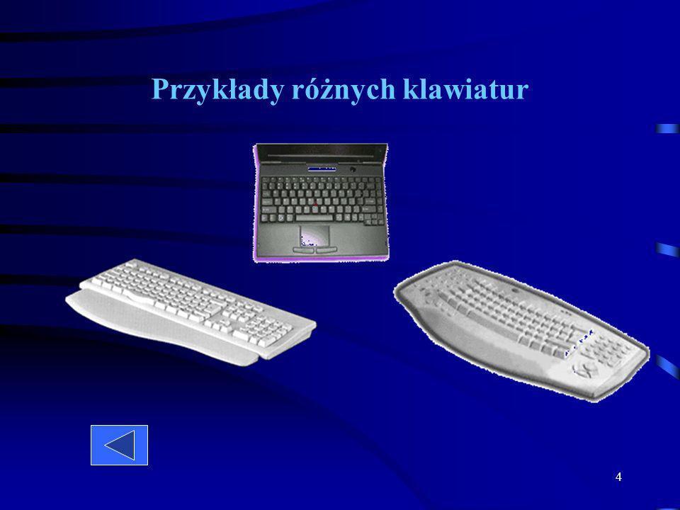 Przykłady różnych klawiatur